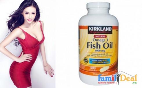 Fish Oil Omega-3 1000 mg - Kirkland - Sản phẩm cho bé