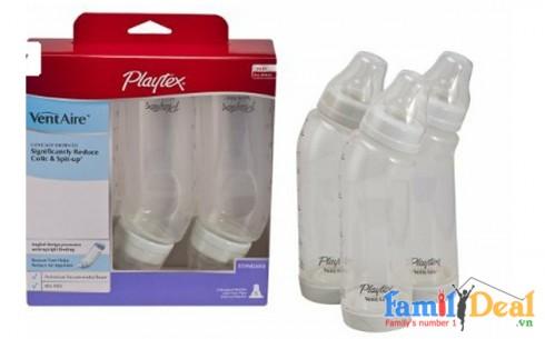 Set 03 Bình Sữa Cổ Cong Playtex 9oz -... - Sản phẩm cho bé