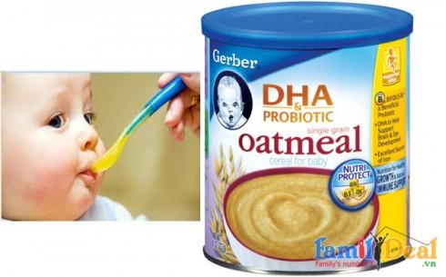Bột yến mạch Gerber - DHA - Sản phẩm cho bé
