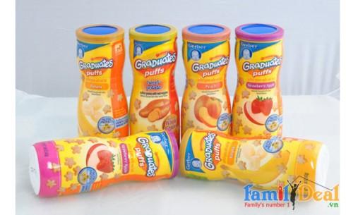Bánh Ăn Dặm Puffs - Gerber (USA) - Sản phẩm cho bé