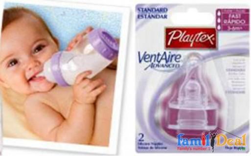 Set 02 Núm ty bình sữa PLAYTEX - Đồ dùng trẻ em