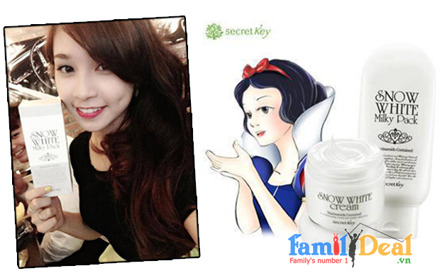 Family Deal - Kem tam trang Snow White Milky Pack