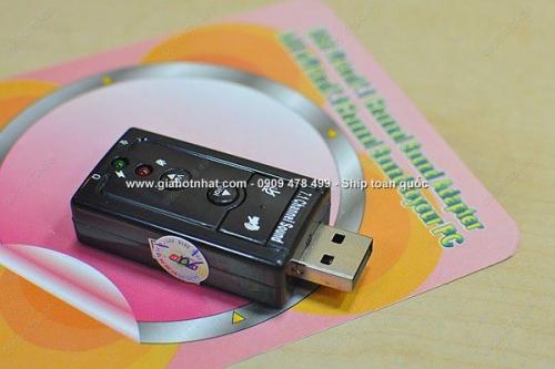 Giá Hot Nhất - THIET BI USB SOUNDCARD TAO HIEU UNG AM THANH NOI HIFI (MS: 8233)