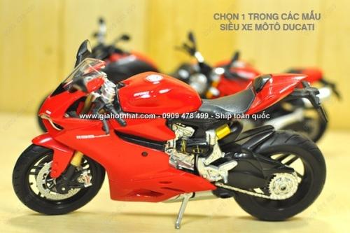 Giá Hot Nhất - XE MO HINH 1/12 - 18cm - MO TO DUCATI (MS:9771) - Chon 1 trong 5 mau xe moto DUCATI de lam phong phu them bo suu tap sieu xe mo