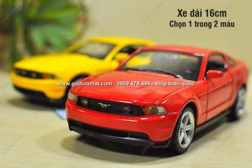 Giá Hot Nhất - MO HINH XE SAT 1/ 32 16CM FORD MUSTANG GT - CO DEN NHAC -(MS 9550)