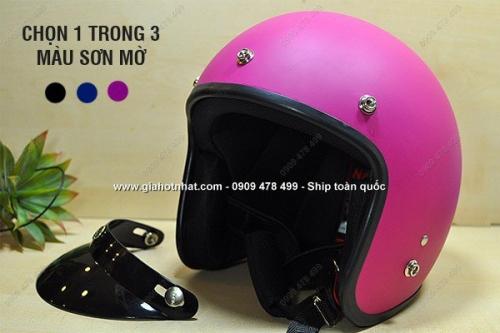 Giá Hot Nhất - NON BAO HIEM FULL FACE CAFE RACER PHONG CACH (MS:7233)-