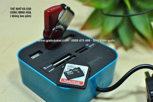 Giá Hot Nhất - THIET BI COMBO HUB USB DAU DOC THE - (MS: 8077)