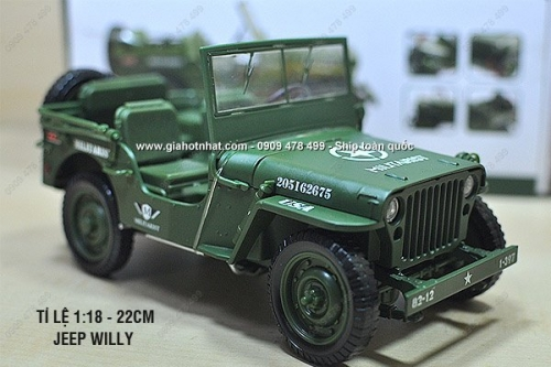Giá Hot Nhất - XE MO HINH SAT 1 18 20CM JEEP WILLY CLASSIC - KDW - (MS 9758 )