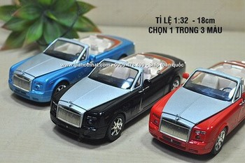 Giá Hot Nhất - XE MO HINH SAT 1/32 18CM ROLL ROYLES KHONG MUI CONVERTIBLE - (MS 9626)
