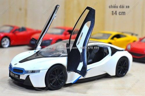 Giá Hot Nhất - XE MO HINH SAT 1/32 - 14CM - SIEU XE BMW i8 (MS:9306)