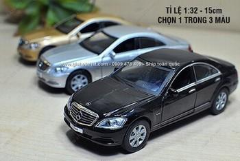 Giá Hot Nhất - XE MO HINH SAT 1/32 15CM MERCEDES S CLASS CHINH HANG -( MS 9608)