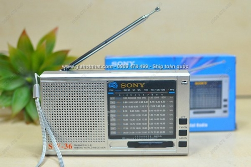 Giá Hot Nhất - RADIO SIEU ANG TEN AM FM SONY XAI PIN (MS : 8.096) - song tot, am thanh ro net chi voi gia 165.000 VND tai GIAHOTNHAT