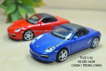 Giá Hot Nhất - XE MO HINH SAT 1/32 14CM PORSCHE BOXTER 911 -(MS 9622 )