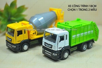 Giá Hot Nhất - MO HINH 1/32 XE 18CM BON CONG TRINH HOAC XE RAC MINI AUTOS - (MS 9447)