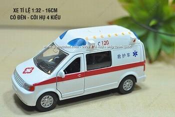 Giá Hot Nhất - MO HINH SAT 1/32 16CM XE CAP CUU HONG KONG CO DEN COI (MS 9461 )