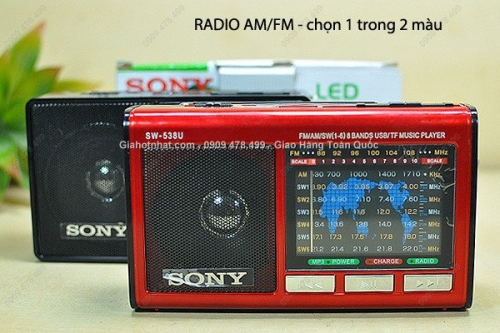 Giá Hot Nhất - RADIO AM FM NHAC THE NHO PIN SAC CO DEN PIN - (MS 8165 )-