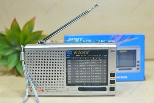 Giá Hot Nhất - RADIO SIEU ANG TEN AM FM SONY XAI PIN SW-36 (MS: 8098) - song tot, am thanh ro net chi voi gia 165.000 VND tai GIAHOTNHAT