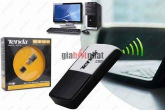 Giá Hot Nhất - USB THU SONG WIFI TENDA W311M (MS: 8153) voi cong nghe chuan N, giup may tinh PC ket noi WIFI
