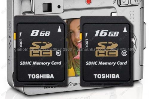 Giá Hot Nhất - THE NHO SD CHO MAY ANH CHINH HANG TOSHIBA LOAI 8GB (MS: 8258) 16GB (8259)
