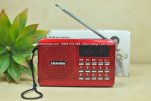 Giá Hot Nhất - LOA USB RADIO THE NHO FM CHINH HANG CRAVEN (MS: 8227)