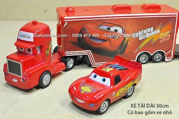 Giá Hot Nhất - MO HINH DO CHOI XE TAI MACK CHUYEN CHO XE CARS (MS: 9318)