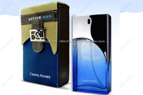 Giá Hot Nhất - NUOC HOA SANG TRONG ACTIVE MAN - CHRIS ADAM HOP VAI THOI TRANG - MS 7154