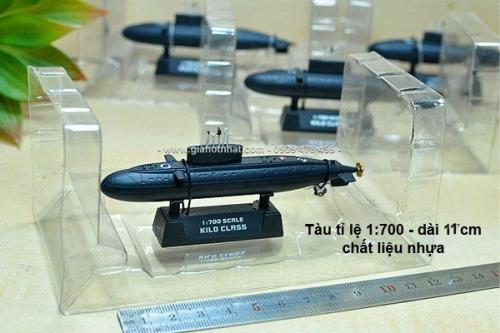 Giá Hot Nhất - MO HINH TAU NGAM KILO TI LE 1/700 11CM - MS 9430 - Tai ngam hien dai binh chung Hai Quan Nhan Dan VN