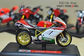 Giá Hot Nhất - MO HINH SAT 1/18 (12cm) DONG DUCATI SERIE ( MS 9654) - Chon 1 trong 8 mau xe Ducati