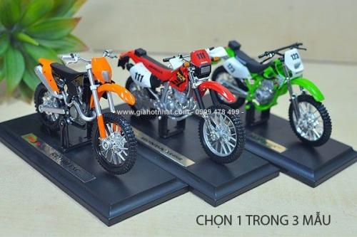 Giá Hot Nhất - MO HINH XE TI LE 1/18 MOTO DIA HINH - MAISTO - MS