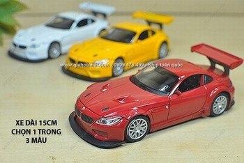 Giá Hot Nhất - XE MO HINH SAT 1/32 SIEU XE BMW Z4 GT3 - (MS 9638)