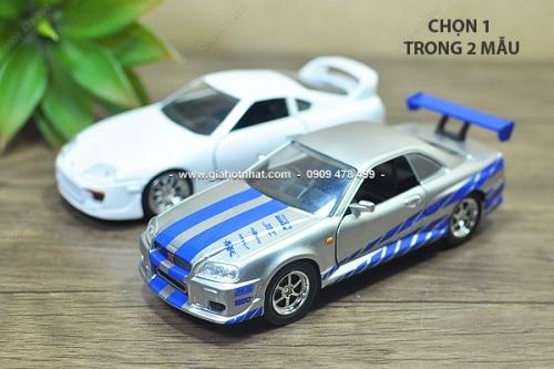 Giá Hot Nhất - XE MO HINH SAT TI LE 1/36 FAST FURIOUS - JADA ( MS 9824 ) - Chon 1 trong 2 mau xe Nissan GTR R34 hoac Toyota Supra