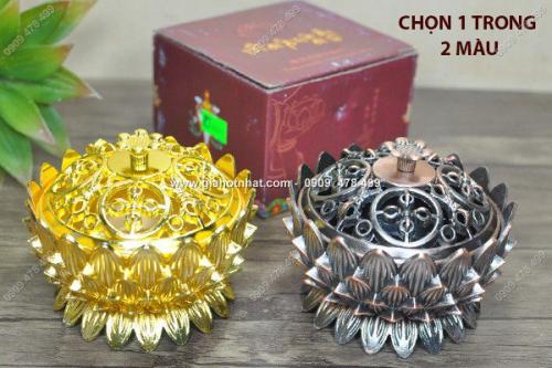 Giá Hot Nhất - MS 6049 - DINH XONG TRAM HINH HOA SEN BANG KIM LOAI