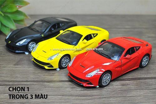 Giá Hot Nhất - MS: 9684 - XE MO HINH SAT TI LE 1/32 -15cm - FERRARI F12