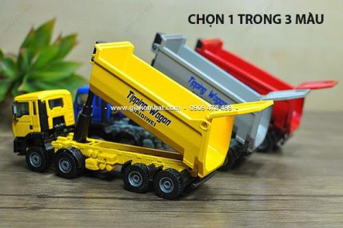Giá Hot Nhất - MS: 9933 - Xe Mo Hinh Sat Ti Le 1/50 -18cm - Xe Ben Tai Cong Trinh - KDW
