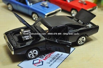 Giá Hot Nhất - MS: 9673 - XE MO HINH SAT TI LE 1/32 -16cm - DODGE CHARGER FF7 - DOM