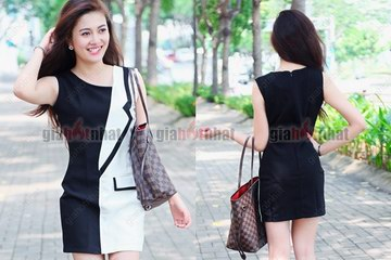 Giá Hot Nhất - MS : 1007 - DAM CONG SO GIA VEST BECKY - voi thiet ke gia vest an tuong
