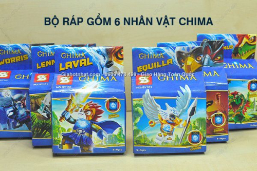 Giá Hot Nhất - MS 9127 - COMBO 6 HOP RAP CHIMA SONG DONG