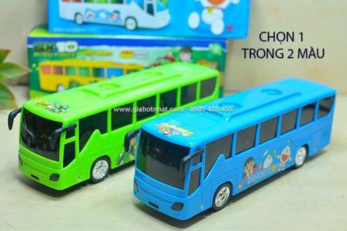 Giá Hot Nhất - MS: 9263 - DO CHOI XE BUS DOREMON/ BEN 10 CO AM THANH VA DEN 3D