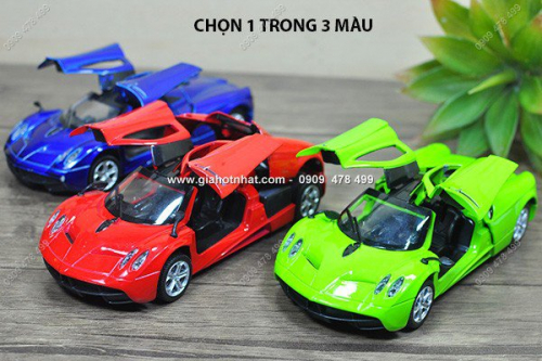 Giá Hot Nhất - MS: 9837 - Xe Mo Hinh Sat 1/32 Sieu Xe Pagani Huayra - Chon 1 trong 3 mau