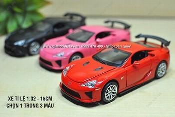 Giá Hot Nhất - MS: 9780 - XE MO HINH 1/32 LEXUS LFA - DOUBLE HORSE - Chon 1 trong 3 mau