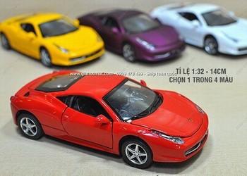 Giá Hot Nhất - MS: 9681 - XE MO HINH SAT 1/32 14CM SIEU XE FERRARI 458 - MINIAUTO