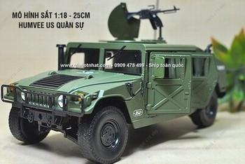 Giá Hot Nhất - MS: 9999 - Xe Mo Hinh Sat Ti Le 1/18 - 25cm - HUhmmer Humvee USA - KDW