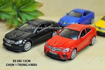 Giá Hot Nhất - MS: 9810 - XE MO HINH 1/32 -15cm - MERCEDES C63 AMG - Chon 1 trong 3 mau