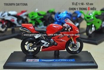 Giá Hot Nhất - MS: 9691 - MO HINH SAT 1/18 (12cm) XE MOTO THE THAO - Chon 1 trong 6 mau xe