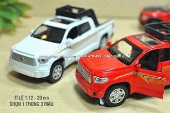 Giá Hot Nhất - MS 9632 - MO HINH 1 /32 20cm XE BAN TAI TOYOTA TUNDRA CO DEN AM THANH