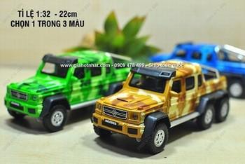 Giá Hot Nhất - MS: 9828 - XE MO HINH SAT 1/32 - 22cm SIEU XE DIA HINH MERCEDES G63 6X6