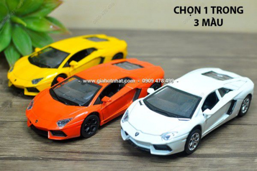 Giá Hot Nhất - MS: 9738 - XE MO HINH 1/32 LAMBORGHINI AVENTADOR - KDW - Chon 1 trong 3 mau