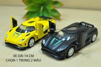 Giá Hot Nhất - MS: 9832 - XE MO HINH SAT 1/32 14CM SIEU XE KOENIGSEGG