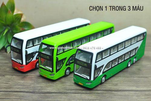 Giá Hot Nhất - MS: 9897 - MO HINH XE BUS 2 TANG THAM QUAN DU LICH - Chon 1 trong 3 mau