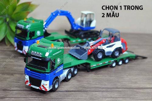 Giá Hot Nhất - MS: 9910 - MO HINH SAT 1/ 50 XE TAI CHO XE XUC CONG TRINH DA NANG - KDW